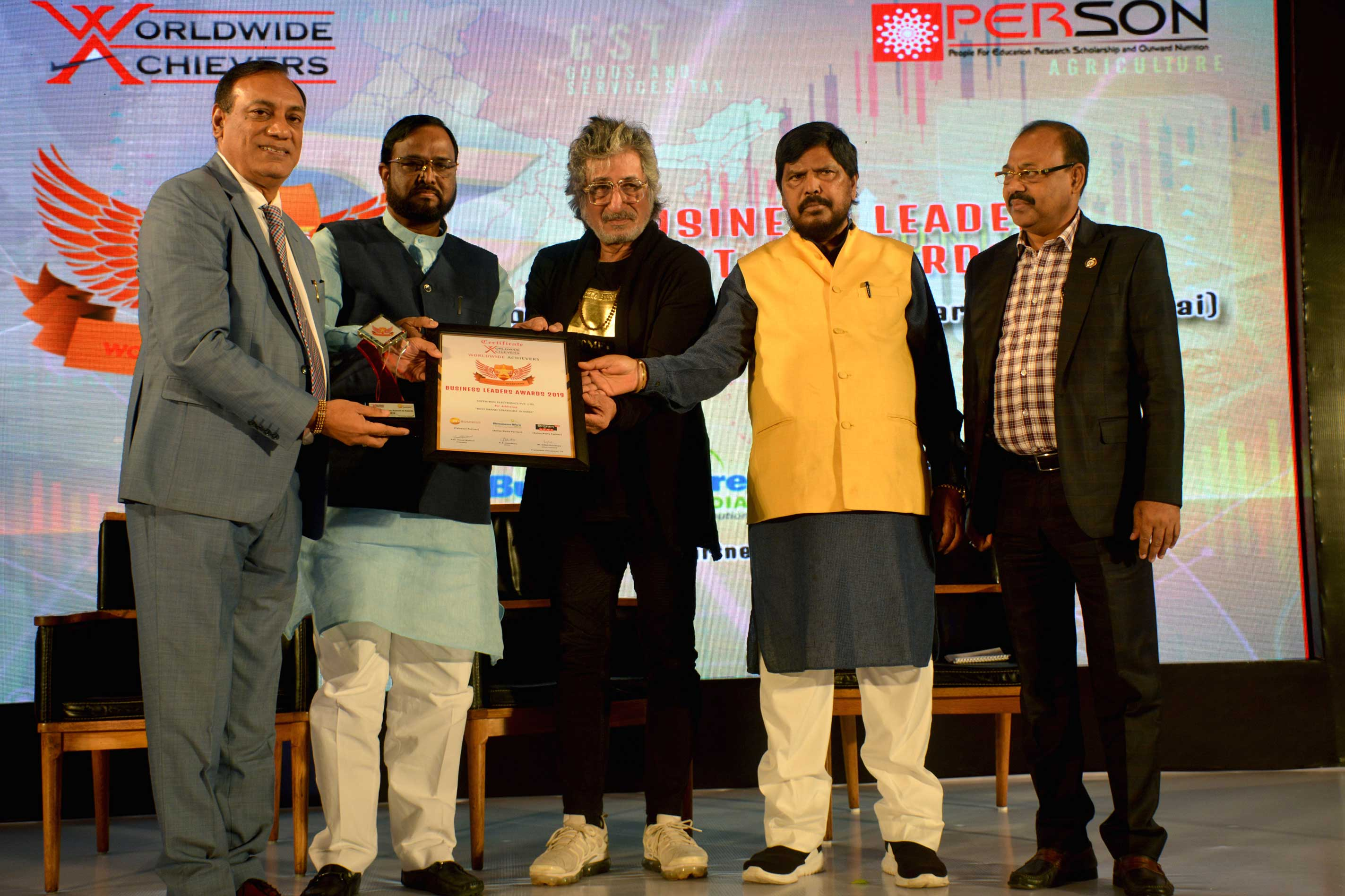 Supertron recognised as  Best brand strategist of India by ZEE Business & Worldwide Achievers